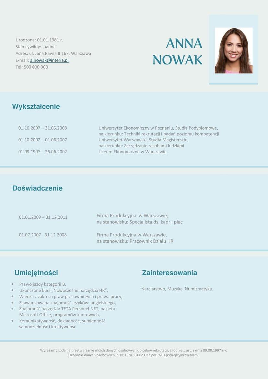 Cv I Lm Specjalista Ds Personalnych Tqm Training Consulting Polska Sp Z O O
